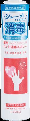 Medicinal hand disinfectant spray